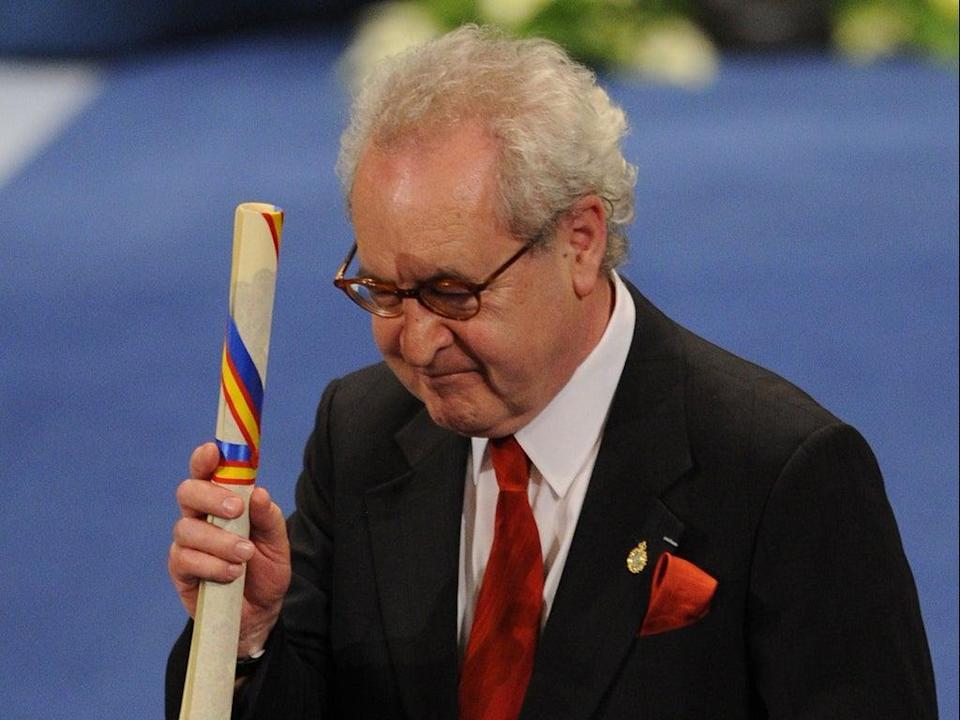 Banville recibió el premio Príncipe de Asturias en 2014 (AFP via Getty Images)
