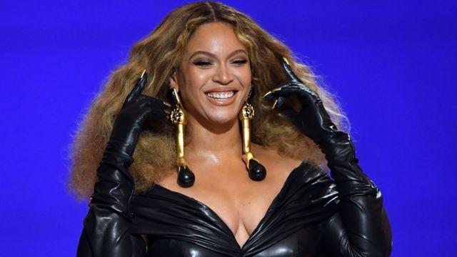 Beyoncé at the 2021 Grammys