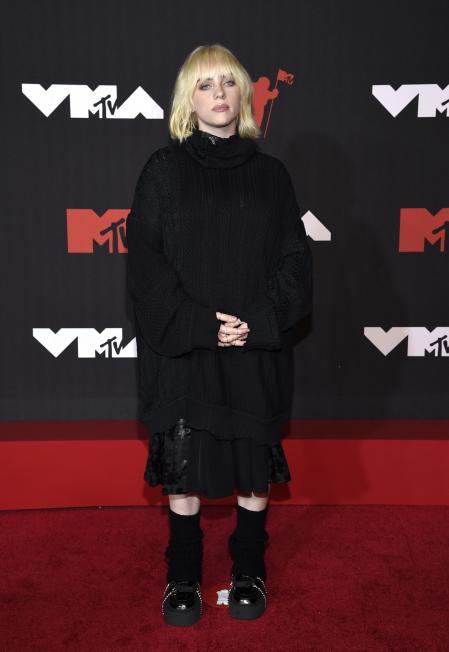 Billie Eilish at the MTV VMAs red carpet