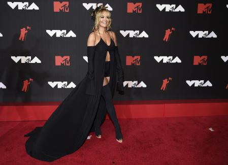 Rita Ora at the MTV VMAs red carpet