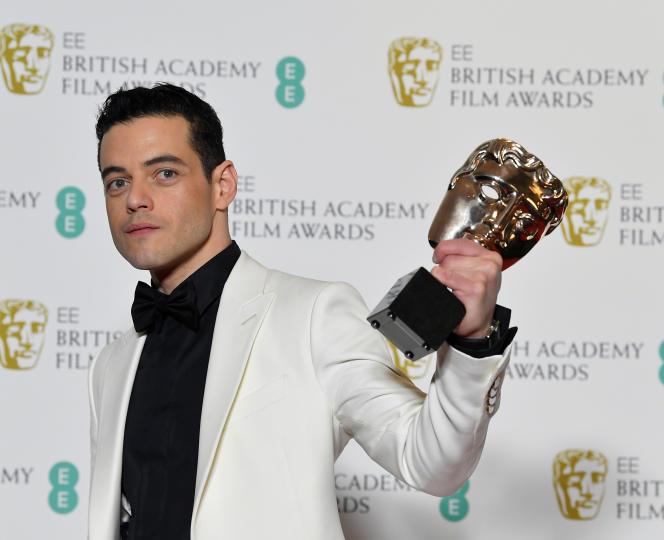 American actor Rami Malek honored as best actor for