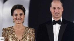 PHOTOS - James Bond preview: sparkling Kate Middleton in a long golden dress - Gala